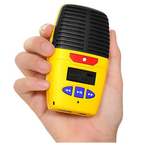 Micro-Speak Plus, Digitales Diktiergerät mit Sprachaufzeichnung, 4 GB, 48 Stunden Aufnahme. Enthält akustische Ansagen und Sprachanweisungen für Benutzer mit Sehbehinderung.