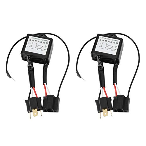 Reversed Polarity,Yctze 2pcs LED Negative Converter Polar Negative Switch Harness Adaptor Reversed Polarity for H4 for h4 negative switch converter polarity converter reverse polarity converter for h4