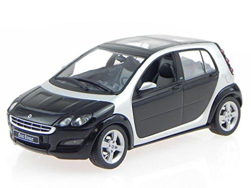 smart forfour schwarz jack black Modellauto Schuco 1:43
