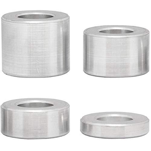FASTON Aluminium Distanzhülsen M12 Ø innen 12,5 mm (4 Stück) Hülsen Abstandshülsen Buchse Distanzbuchsen Abstandsbuchsen Schildhalter Ø Außen 24 mm Länge 15 mm