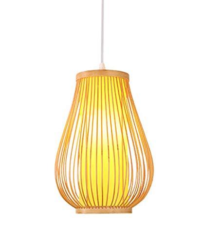 Fine Asianliving Deckenleuchte Pendelleuchte Beleuchtung Bambus Lampenschirm Handgefertigt - Bella Pendelleuchte Beleuchtung Bambus Lampenschirm Geflochten Lampe Belechtung Rotan