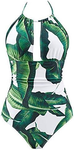 B2prity Women One Piece Swimsuit Tummy Control Swimwear V Neck Bathing Suit product image