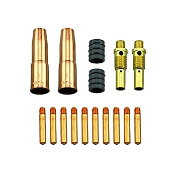 WeldingCity MIG Welding Gun Accessory Kit  .035   Contact Tip-Nozzle-Diffuser-Nozzle Adapter for Lincoln Magnum 200/250 and Tweco #2 180-250 Amp