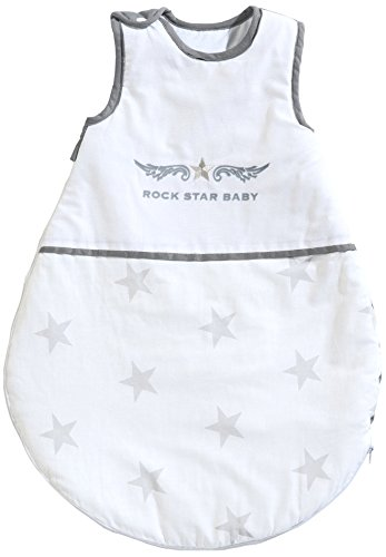 roba Schlafsack, 70cm, Babyschlafsack ganzjahres/ganzjährig, aus atmungsaktiver Baumwolle, Schlummersack unisex, Kollektion 'Rock Star Baby 2'