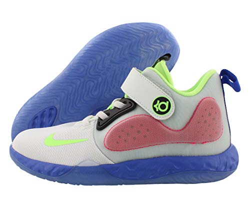 Nike Little Boys KD Trey 5 VII Basketball Sneakers (1.5, White/Lime Blast-Hyper RO)