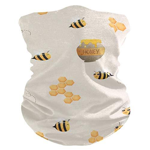 Sawhonn Leuke Honing Bijen Honingraat Gezichtsmasker Hoofdband Bandana Neck Gaiter Magic Sjaal Balaclavas Headwraps voor Outdoor Vrouwen Mannen