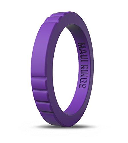 MAUI RINGS Silicone Wedding Ring by ELEGANT Style Silikon Hochzeitsring für Damen Ehering Verlobungsringe Gummi Ring Damen Ringe Silikon Ring Lavender Silk [DE 54] US:7/UK:N(17.32mm)