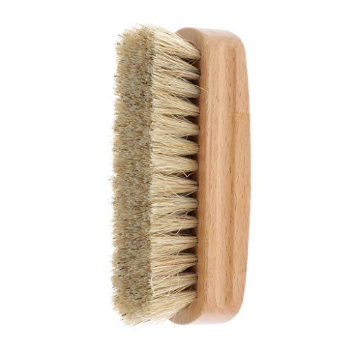 靴磨き ブラシ 豚毛ブラシ 汚れ落とし シューケア 革製品のお手入れに最適