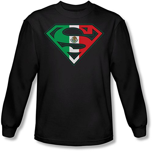 Superman - Bouclier mexicain shirt manches longues de Men In Black, Large, Black