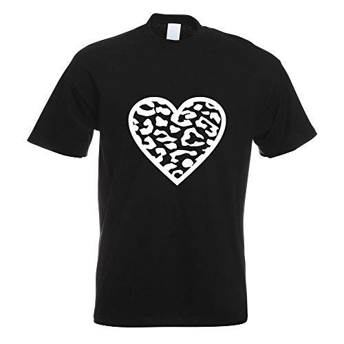 Leopard T-Shirt Motiv Bedruckt Funshirt Design Print