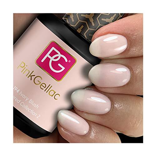 Pink Gellac Shellac Gel Nagellack 15 ml für UV LED Lampe   194 Ivory Blush Rosa Rose   Gel Nail...