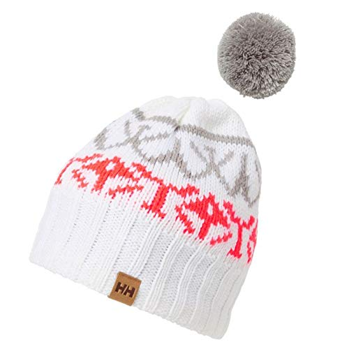 Helly Hansen Powder Beanie Gorro Sombrero de Invierno, Mujer, White, One Size