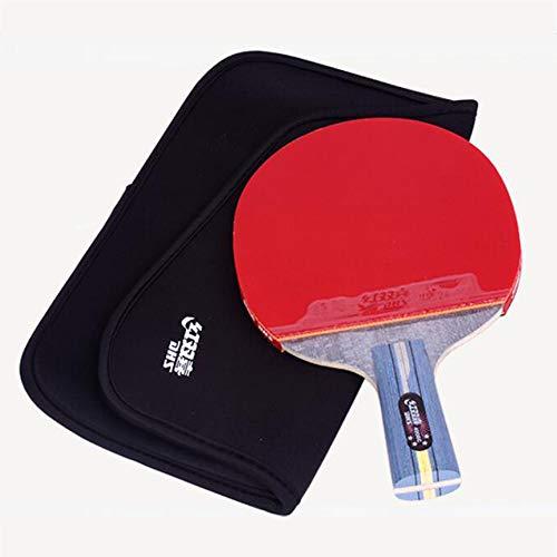 SSHHI Raquetas de Ping Pong, con bolsa para Raquetas de Tenis de Mesa, agarre cómodo, Juego de Paleta de Ping-Pong, Resistente Al desgaste/Como se muestra / 15×26 cm