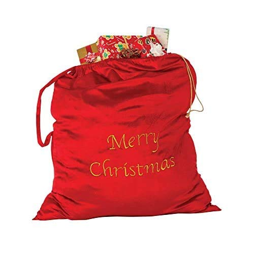 Rubie's unisex adult Merry Christmas Santa Bag Party Supplies, Multicolor, One Size US