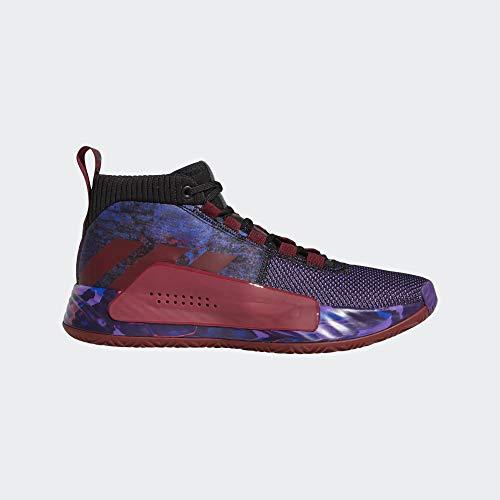 Adidas Dame 5, Zapatillas de Baloncesto Hombre, Multicolor (Negbás/Buruni/Escarl 000), 48 2/3 EU