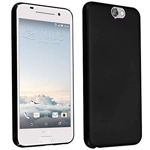 Cadorabo Hülle für HTC One A9 in Metall SCHWARZ – Hardcase Handyhülle aus Plastik gegen Kratzer und Stöße – Schutzhülle Bumper Ultra Slim Back Case Hard Cover