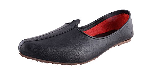Slip On Synthetic Leather Punjabi Jalsa Juti - Superior Quality Men's Party Casual Wear