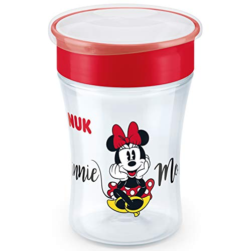 NUK Disney Magic Cup vaso antiderrame bebe, borde antiderrame de 360 ​​°, 8+ meses, sin-BPA, 230 ml, Minnie Mouse, 1 cuenta