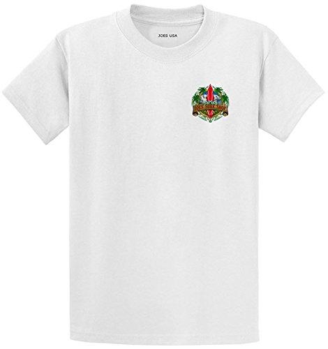 Joe's Surf Longboard Logo Heavyweight Cotton T-Shirt-White/Green-XL