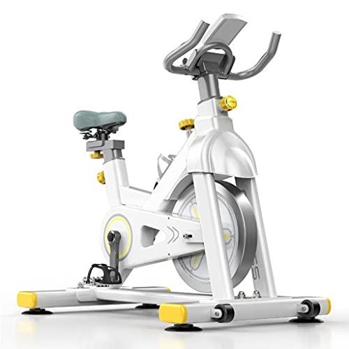 WOERD Bicicleta Estatica de Spinning Bici Ejercicio Gym Casa Indoor Fitness Volante 6kg, Bicicleta Indoor con Pulsómetro, Pantalla LCD, Resistencia Variable, Estabilizadores, Silence