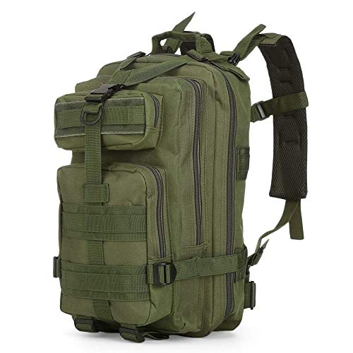 SZYT Military Tactical Backpack Daypack Bag for Hiking Camping Outdoor Sport Army Green