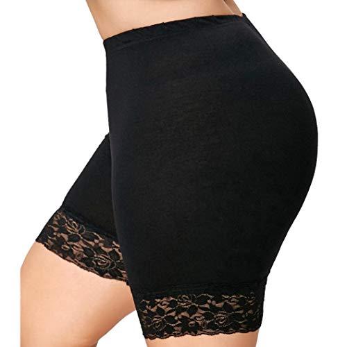 Price comparison product image Womens Plus Size Lace Shorts Elastic Sports Pants Leggings Muranba Black