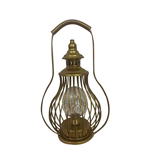 Lámpara LED de petróleo con forma de lámpara de mesa, funciona con pilas, vintage, lámpara colgante, farol con asa para jardín de casa, camping, cobertizo