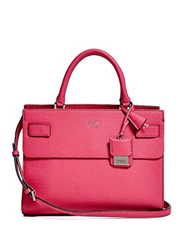 Guess handbag cate satchel fuchsia