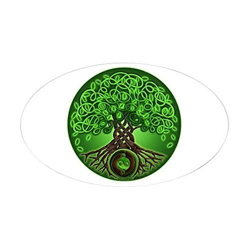 CafePress Circle Celtic Tree of Life Oval Sticker Oval Bumper Sticker, Euro Oval Car Decal