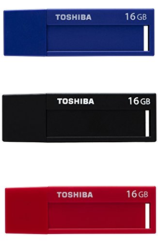 Toshiba TransMemory U302 16GB USB 3.0 Negro, Azul, Rojo Unidad Flash USB - Memoria USB (USB 3.0 (3.1 Gen 1), Type-A, 0-50 °C, -20-60 °C, Tapa, Negro, Azul, Rojo)