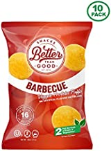 Better Than Good Snacks Low Carb High Protein Puffs - Keto Snack (BBQ Veggie 10-Pack) 2 Serving of Fruits & Veggies, 16g Protein, Low Sugar, Low Calories, Keto Friendly, Diabetic Healthy Snack