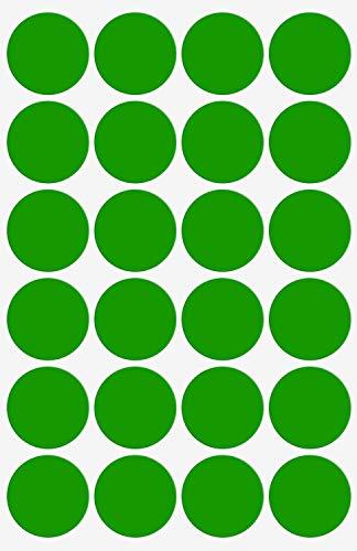 Confezione da 2000 Pezzi Royal Green Rotolo di Bollini Adesivi Rotondi Arancioni Fluorescenti da 8mm