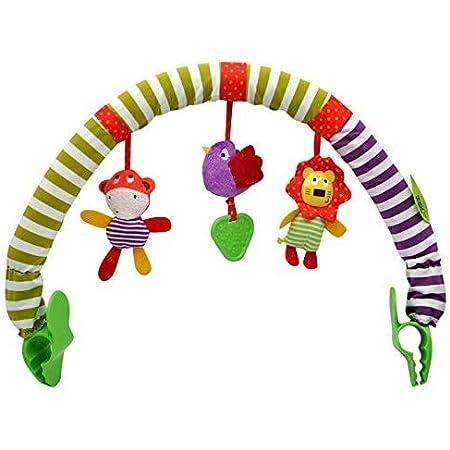 ベビラボ アンパンマン とにかくどこでもジムメリーベビーぶら下げベル ベビーカーおもちゃ ぶら下げ玩具 ぬいぐるみ 音鳴り 聴覚に刺激 ベッドクリップ チャイルドシート 挟むだけ おでかけ用 発育促進 寝かしつけ ベビーカー用玩具 幼児用寝具 出産祝い (小さい鳥)