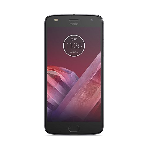 Motorola Moto Z2 Play Smartphone da 5,5 pollici FHD AMOLED, 4GB RAM, 64 GB ROM, Snapdragon 626 Octa-core 2,2 GHz, 12 MP Camera, 4G LTE, Android 7.1.1, Grigio Lunare
