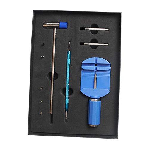 Sharplace Kit de Herramientas de eliminación de eslabones de Reloj Plataforma de desajuste de Pin de Correa de Reloj para el tamaño de la Pulsera de Reloj - Azul