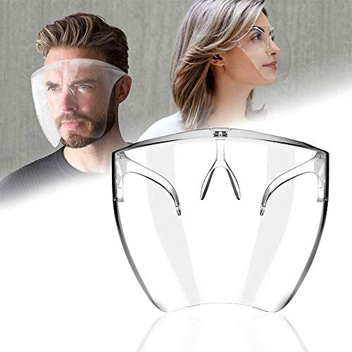 ZLKMQ Innovative Stylish Face Shield Glasses, Face Cover Designed Fashion Style & Comfort, for Man And Woman (L)