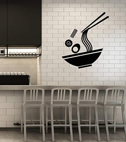 autocollant mural stickers muraux 3d Cuisine asiatique japonaise nouilles Sushi Bar signe de restaurant