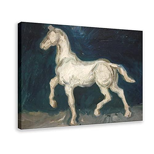 Póster de la estatua de un caballo del pintor holandés de Vincent Van Gogh de yeso de una estatua de caballo, para decoración de la sala de estar, dormitorio, 60 x 90 cm, marco1