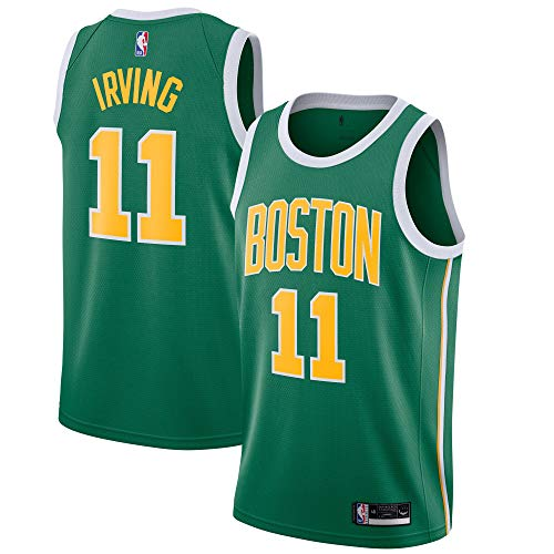 Outerstuff Kyrie Irving Boston Celtics #11 Green Yellow Youth 8-20 Earned Edition Swingman Jersey (18-20)