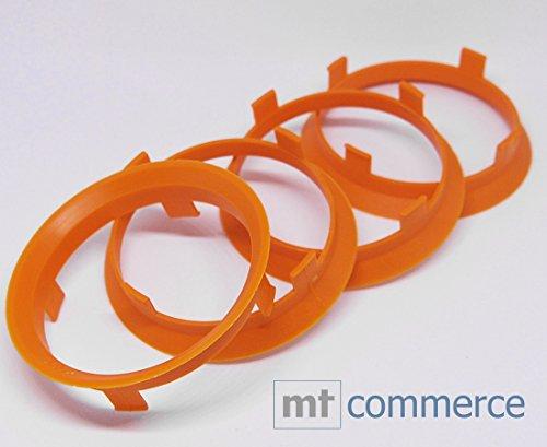 4X Anelli di centraggio 60,1X 58,1mm Arancione Cerchioni Anelli Made in Germany