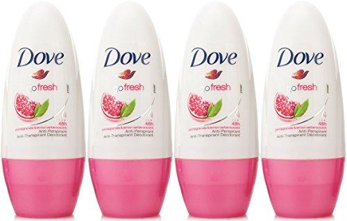 Dove Antiperspirant Deodorant Roll-On, Go Fresh Pomegranate & Lemon Verbena, 1.7 Oz / 50 Ml (Pack of 4)