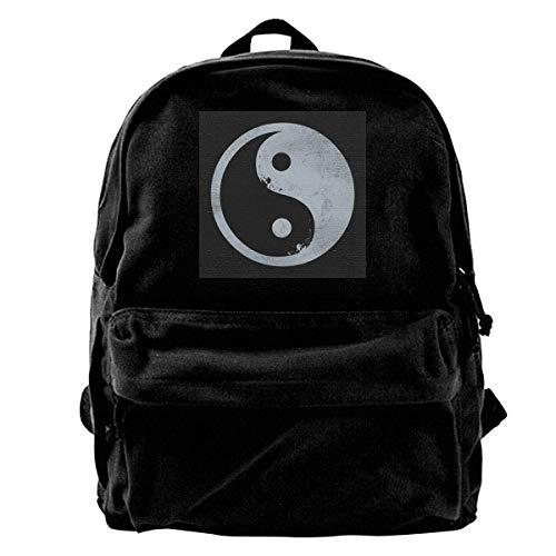 Backpack Yin Yang Surfer Mochila De Lona Interior Anime Mochila Portátil Única Durable Regalo Escolar para Adultos Bolsa De Viaje Impresión De Libros De Cumpleaños Bolso Universit