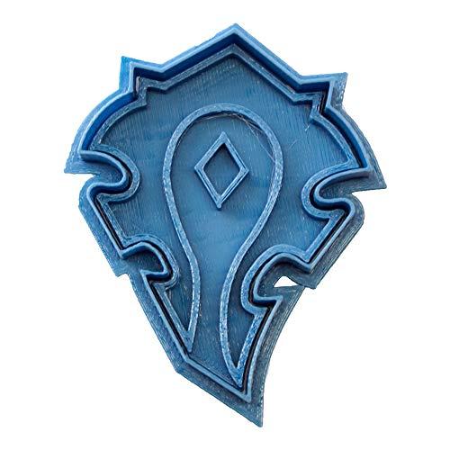 Cuticuter Wow Horda Cortador de Galletas, Azul, 8x7x1.5 cm