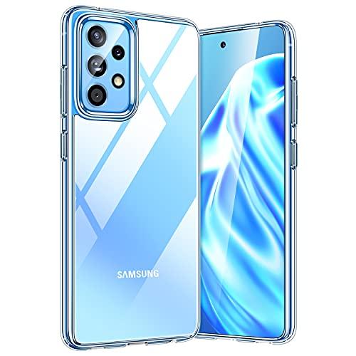 TORRAS Diamond Series für Samsung Galaxy A52 Hülle Transparent (Vergilbungsfrei) Starke Stoßfestigkeit Unzerstörbare Handyhülle Samsung A52 5G Kratzfest Samsung A52 5G Hülle Durchsichtig-Makellos klar