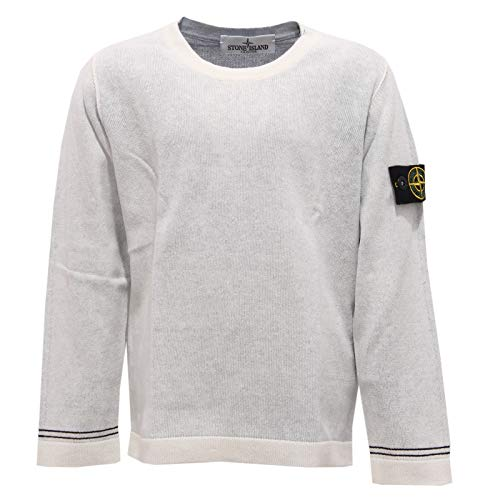Stone Island 3406Z Maglione Bimbo Boy Junior Cotton Garment Dyed Sweater [8 Years]