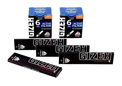 Kombi-Paket mit 4x GIZEH Extra Fine King Size Slim + 2x GIZEH Active Filter Slim-Format 1 Kombi-Paket