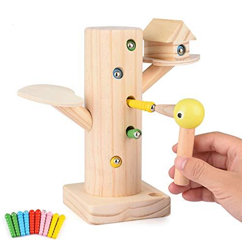FORMIZON Montessori Spielzeug, Magnetischer Specht Raupen Fangen Spiel Montessori Spielzeug, Lernspielzeug für Jungen und Mädchen 3 4 5 Jahre Alt fürJungen und Mädchen Geschenke