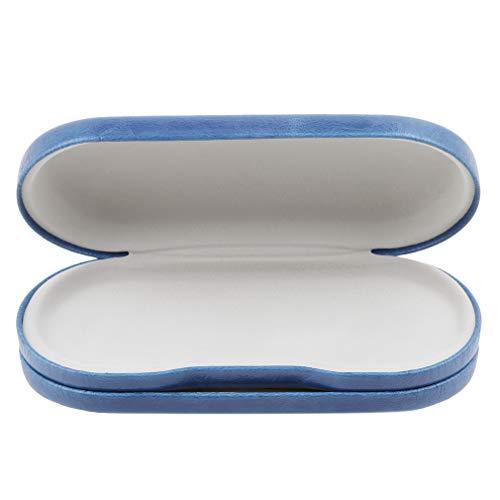Jixing Dual-Use-Brille und Kontaktlinsen-Etui mit einem Spiegel, enthält Kontaktlinsen-Etui, Pinzette und Zwei Fläschchen für Flüssigkeiten, blau, Metall
