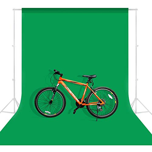MOUNTDOG 6.5 x 10ft Green Screen for Photography, Chromakey Polyester Green Backdrop Background for Photo Video Studio, Zoom, YouTube, Online Meetings, Gaming (Stand NOT Included)