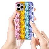 Balle Fidget Toys Coque pour iPhone 6/ 6S/ 7/8/ SE 2020, Push Fidget Toys Balle Anti Stress Pop...